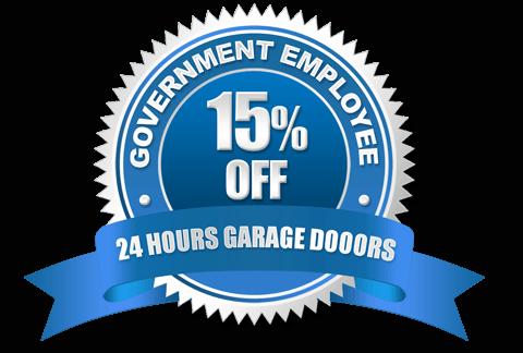 Government Employee Discount Badge | 24 Hours Garage Doors