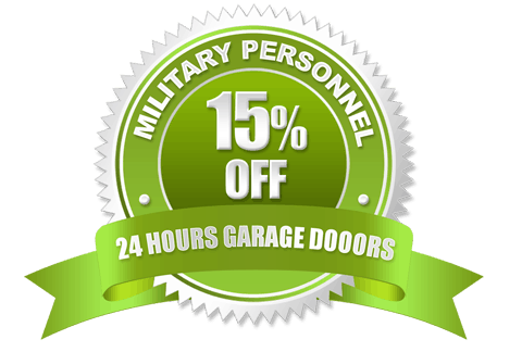 Military Personnel Discount Badge | 24 Hours Garage Doors