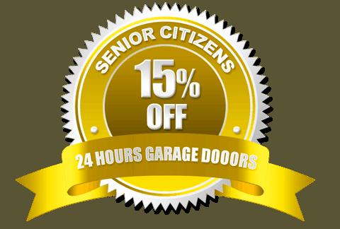 Senior Citizens Discount Badge | 24 Hours Garage Doors