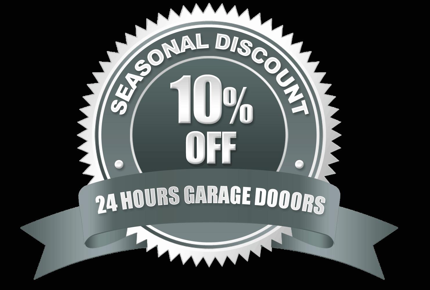 Garage door service logo - Virginia Garage Door Repair And Installation Seasonal Discount 24 Hours Garage Doors